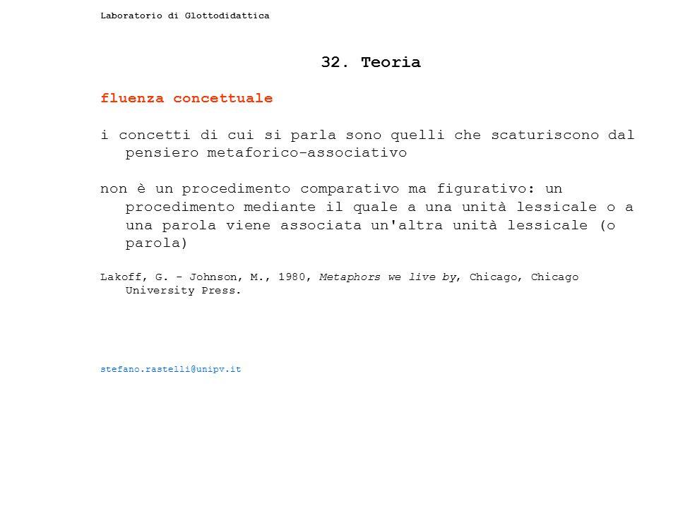 32. Teoria fluenza concettuale