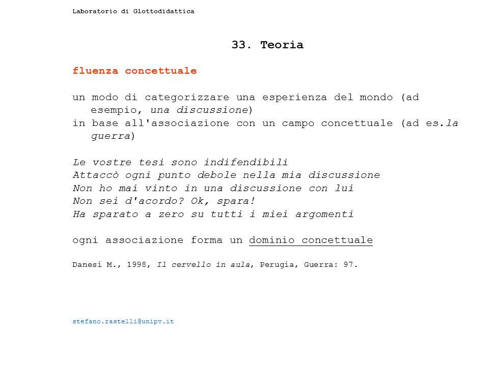 33. Teoria fluenza concettuale