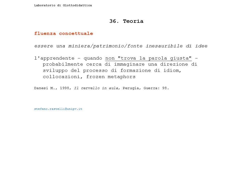 36. Teoria fluenza concettuale