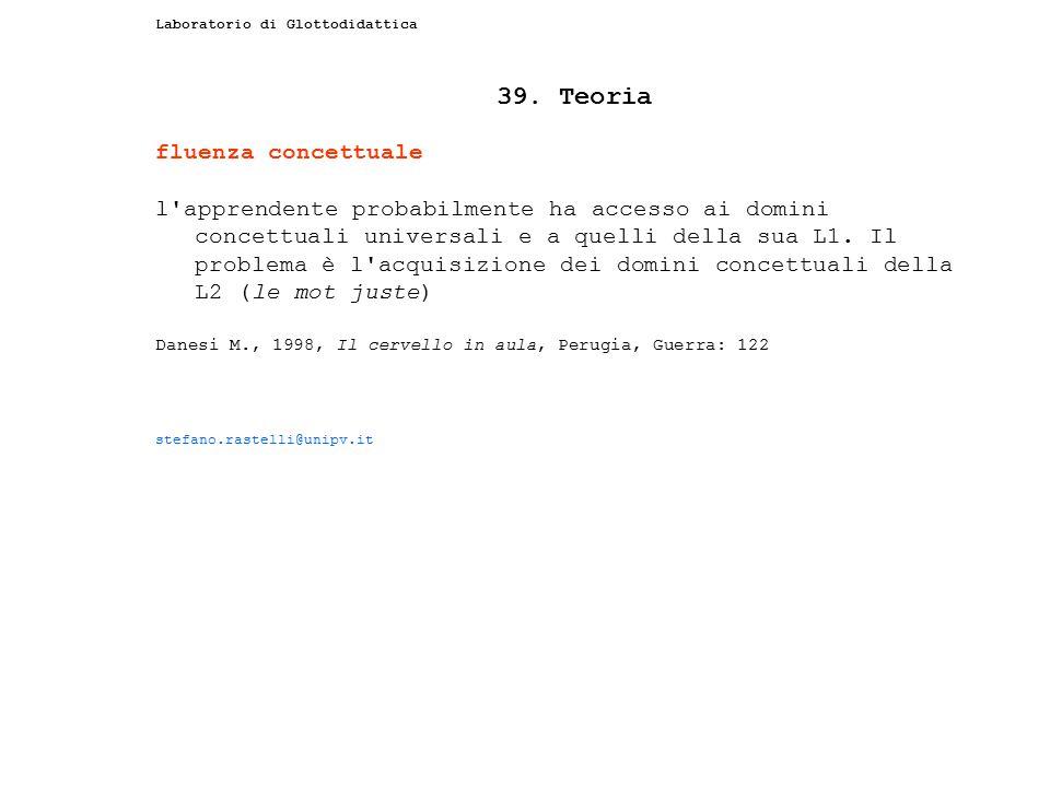 39. Teoria fluenza concettuale