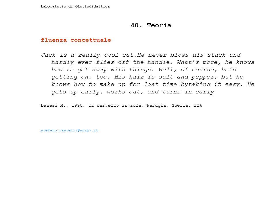 40. Teoria fluenza concettuale