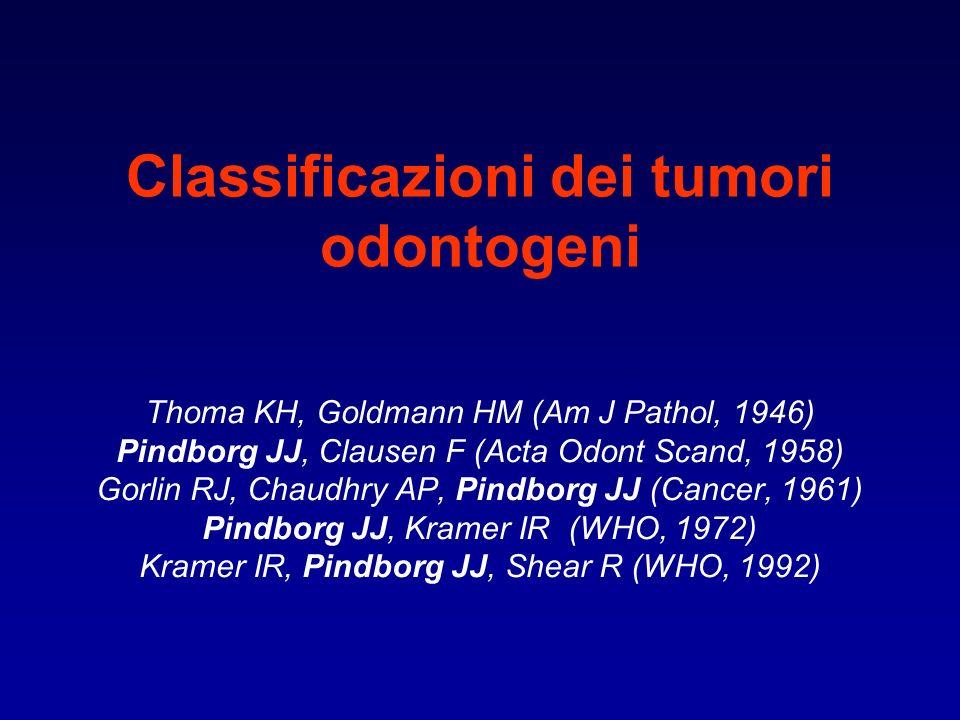 Classificazioni dei tumori odontogeni