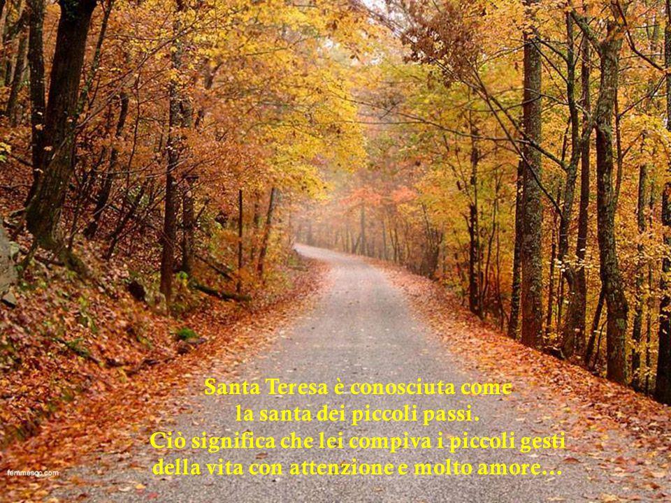 Santa Teresa è conosciuta come la santa dei piccoli passi.