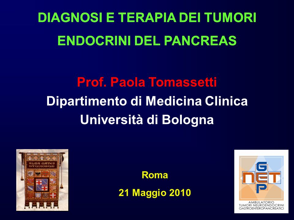 DIAGNOSI E TERAPIA DEI TUMORI ENDOCRINI DEL PANCREAS