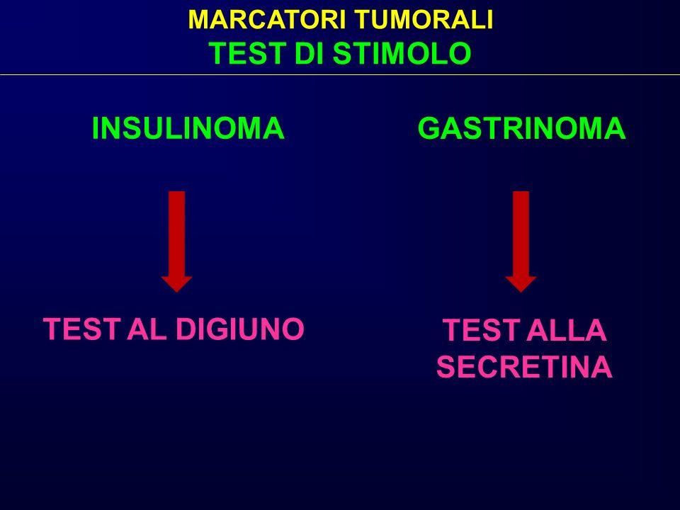 TEST DI STIMOLO INSULINOMA GASTRINOMA TEST AL DIGIUNO