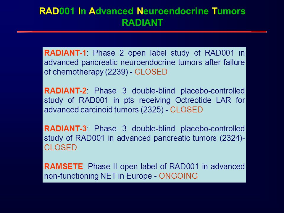RAD001 In Advanced Neuroendocrine Tumors