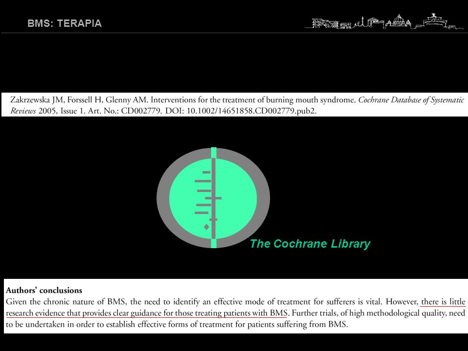 BMS: TERAPIA The Cochrane Library