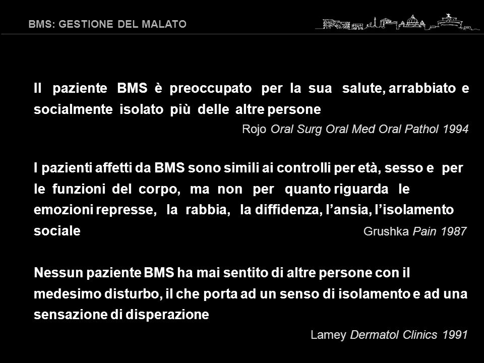 BMS: GESTIONE DEL MALATO