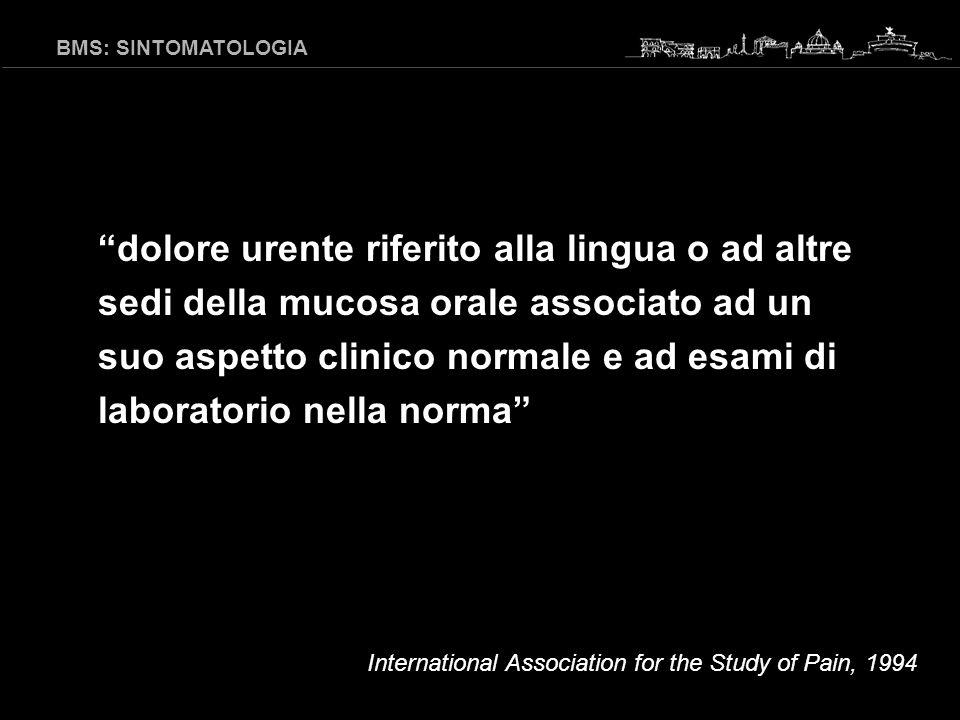 BMS: SINTOMATOLOGIA