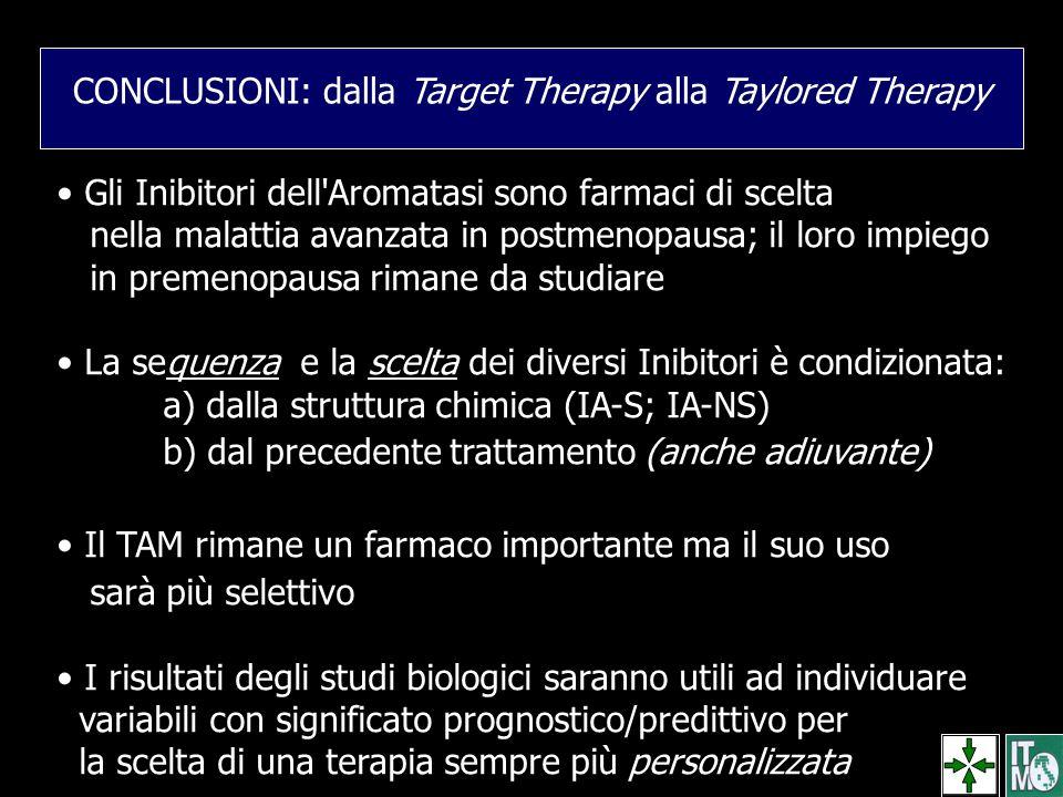 CONCLUSIONI: dalla Target Therapy alla Taylored Therapy