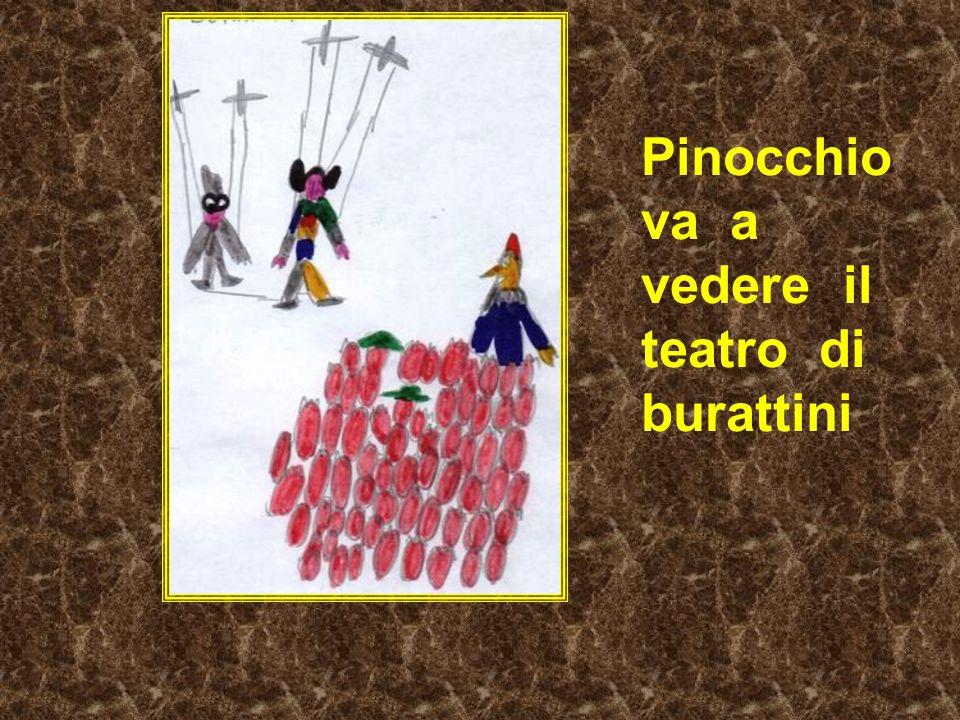 Pinocchio va a vedere il teatro di burattini