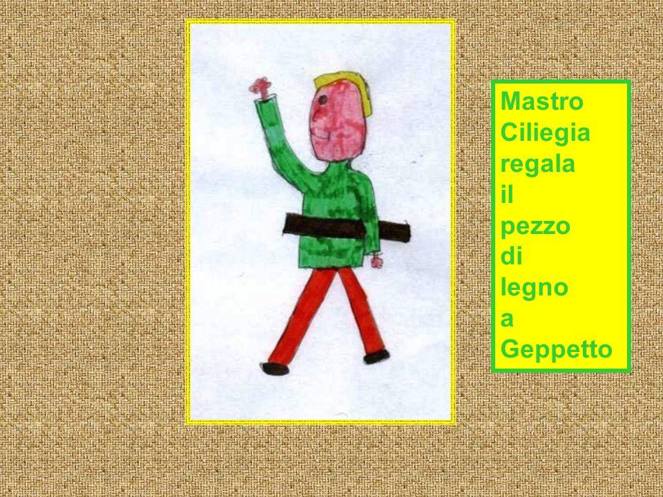 Mastro Ciliegia regala il pezzo di legno a Geppetto