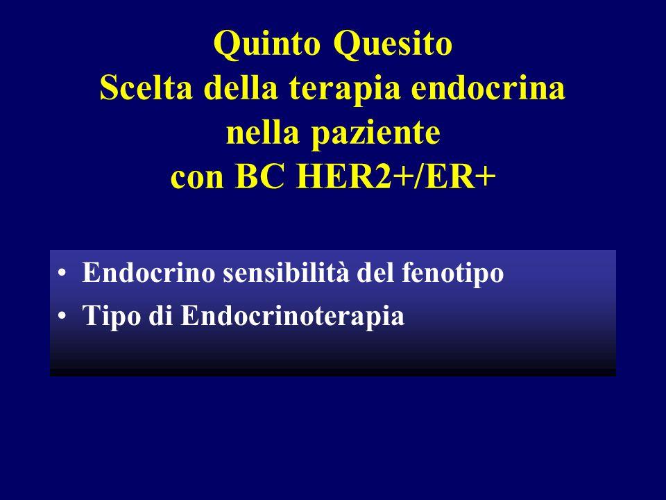 Quinto Quesito Scelta della terapia endocrina nella paziente con BC HER2+/ER+