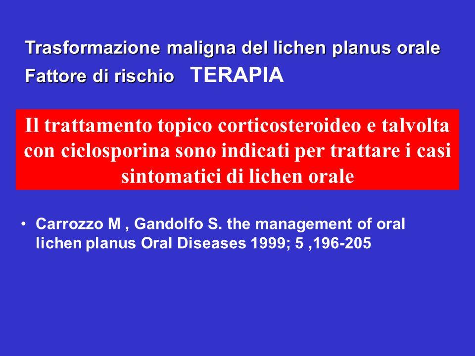 Trasformazione maligna del lichen planus orale