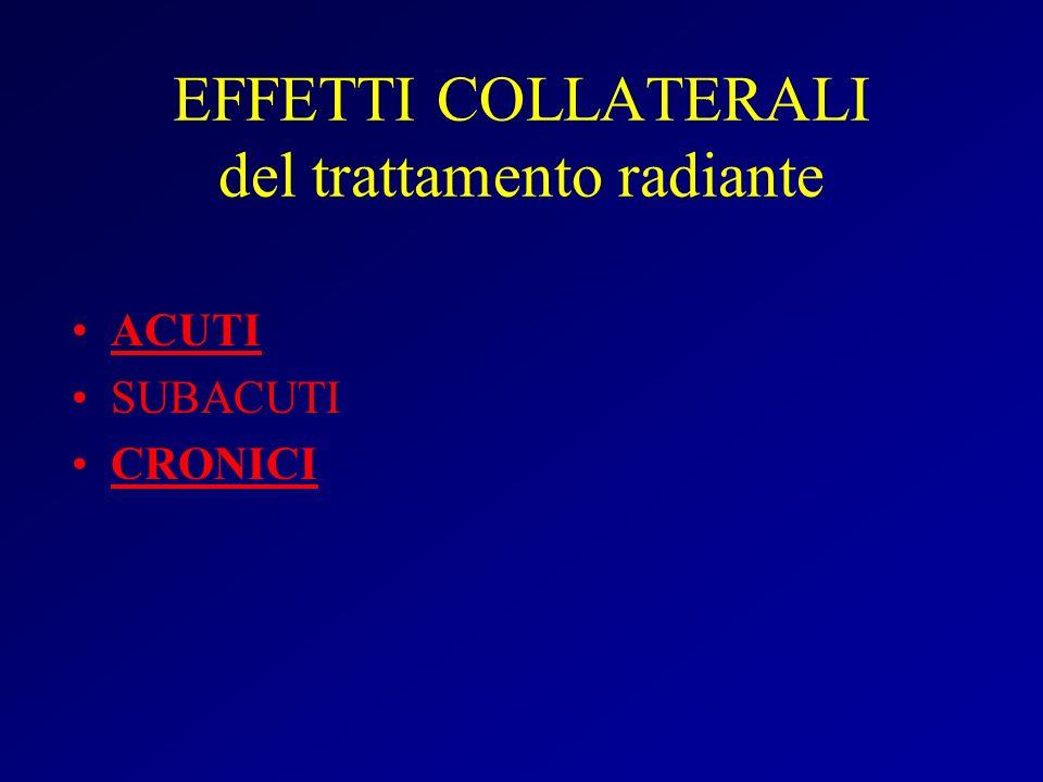 EFFETTI COLLATERALI del trattamento radiante
