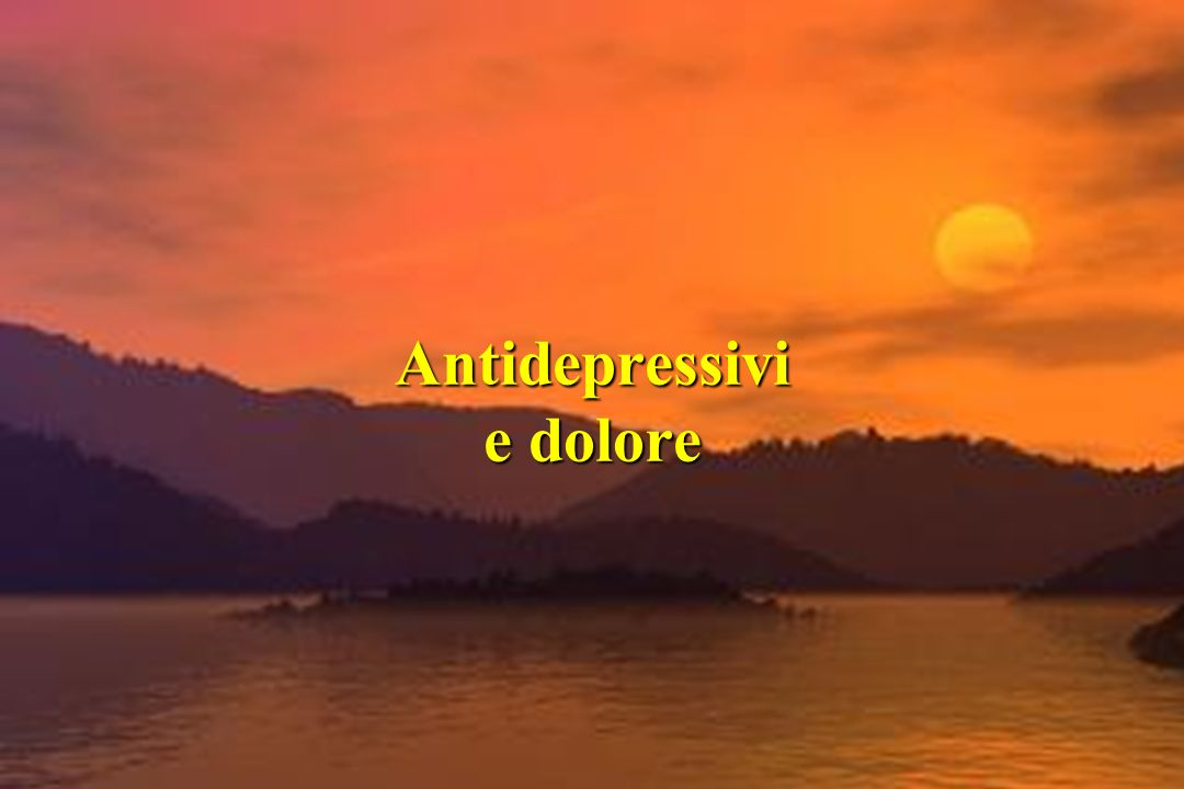 Antidepressivi e dolore