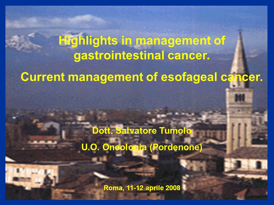 Highlights in management of gastrointestinal cancer.