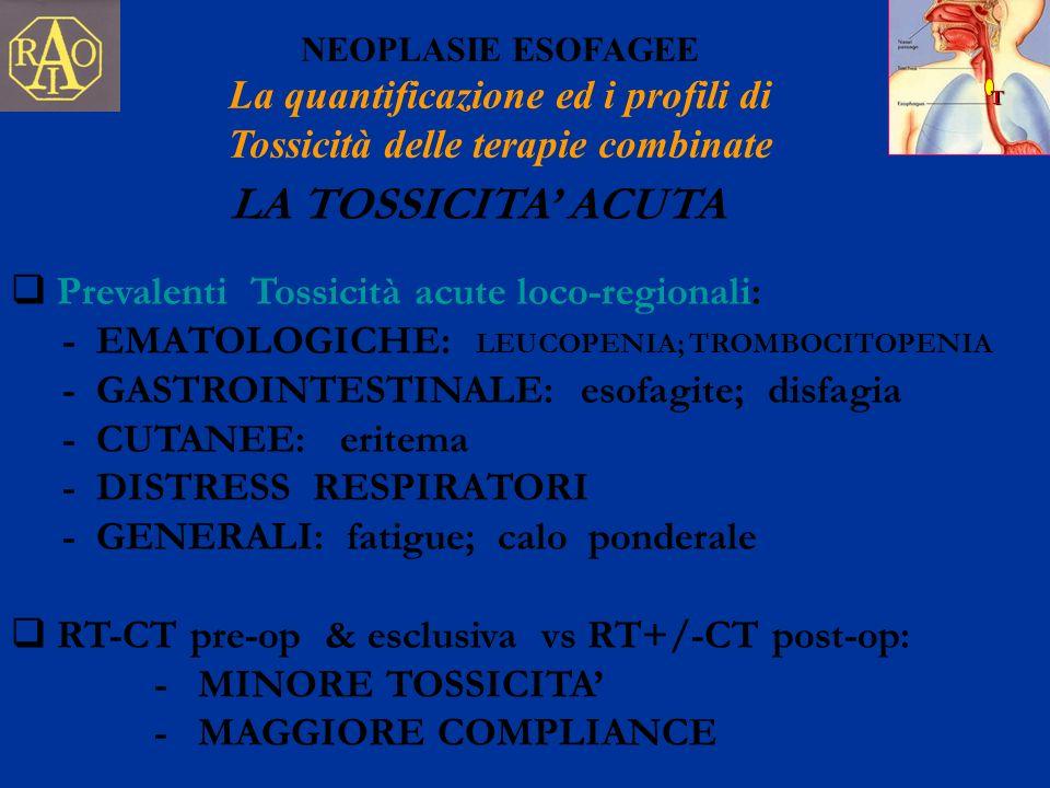 La quantificazione ed i profili di Tossicità delle terapie combinate