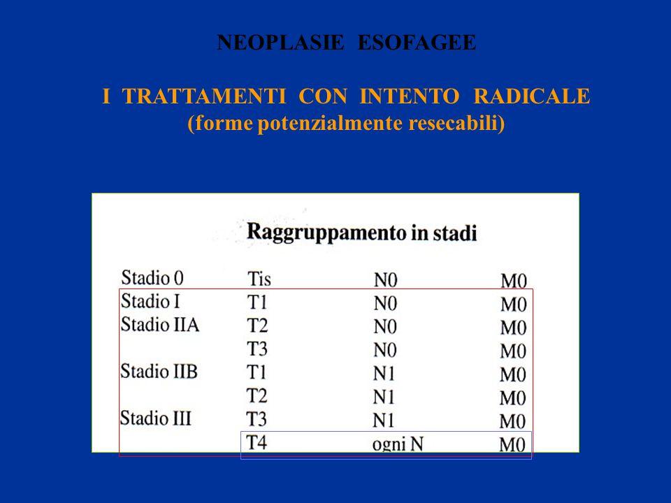 I TRATTAMENTI CON INTENTO RADICALE (forme potenzialmente resecabili)