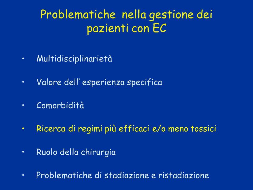 Problematiche nella gestione dei pazienti con EC