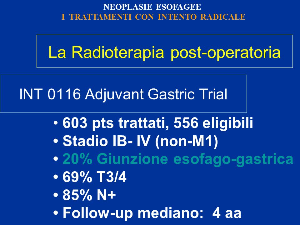 INT 0116 Adjuvant Gastric Trial