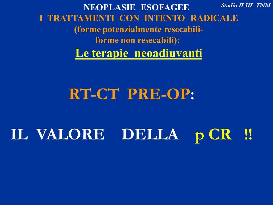 RT-CT PRE-OP: IL VALORE DELLA p CR !!