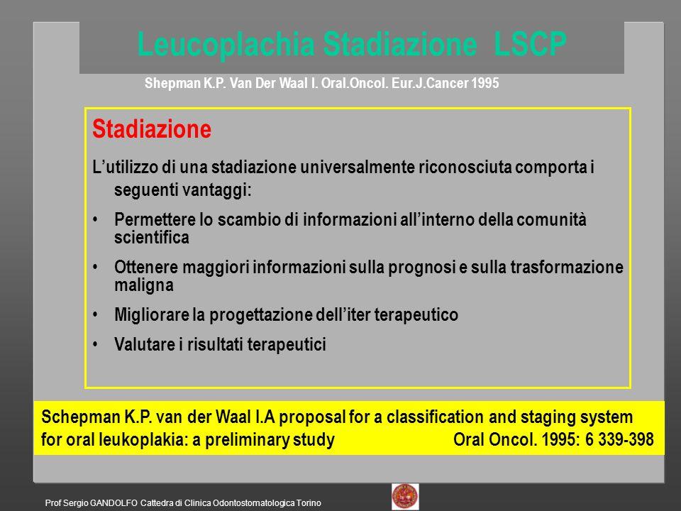 Leucoplachia Stadiazione LSCP