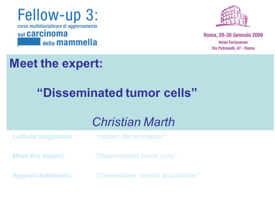 Disseminated tumor cells Christian Marth