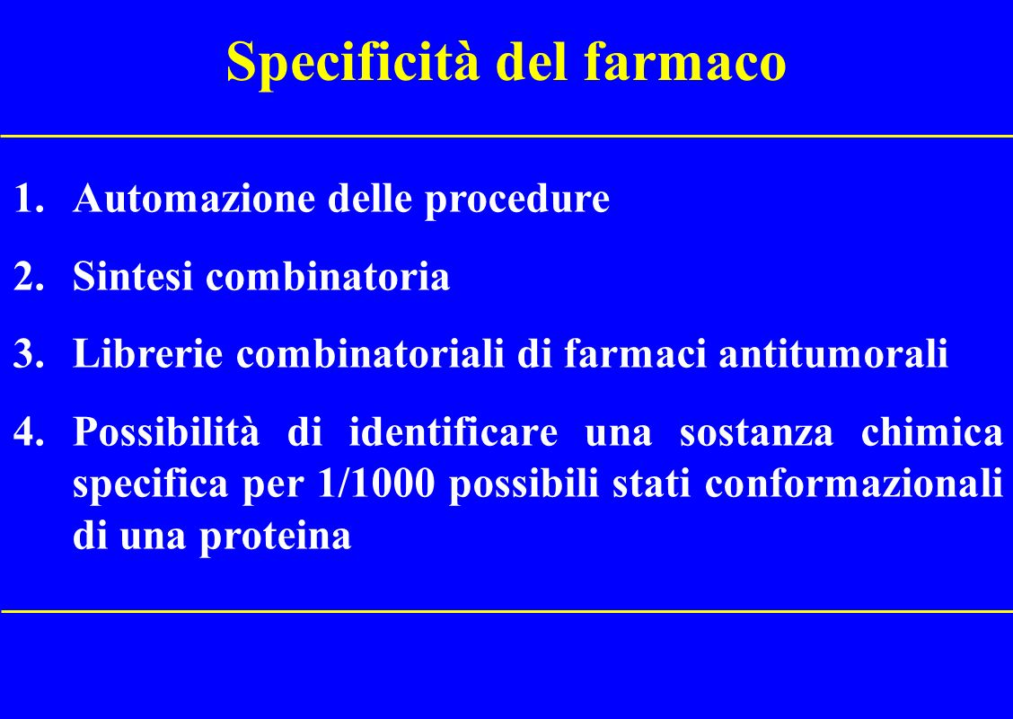 Specificità del farmaco
