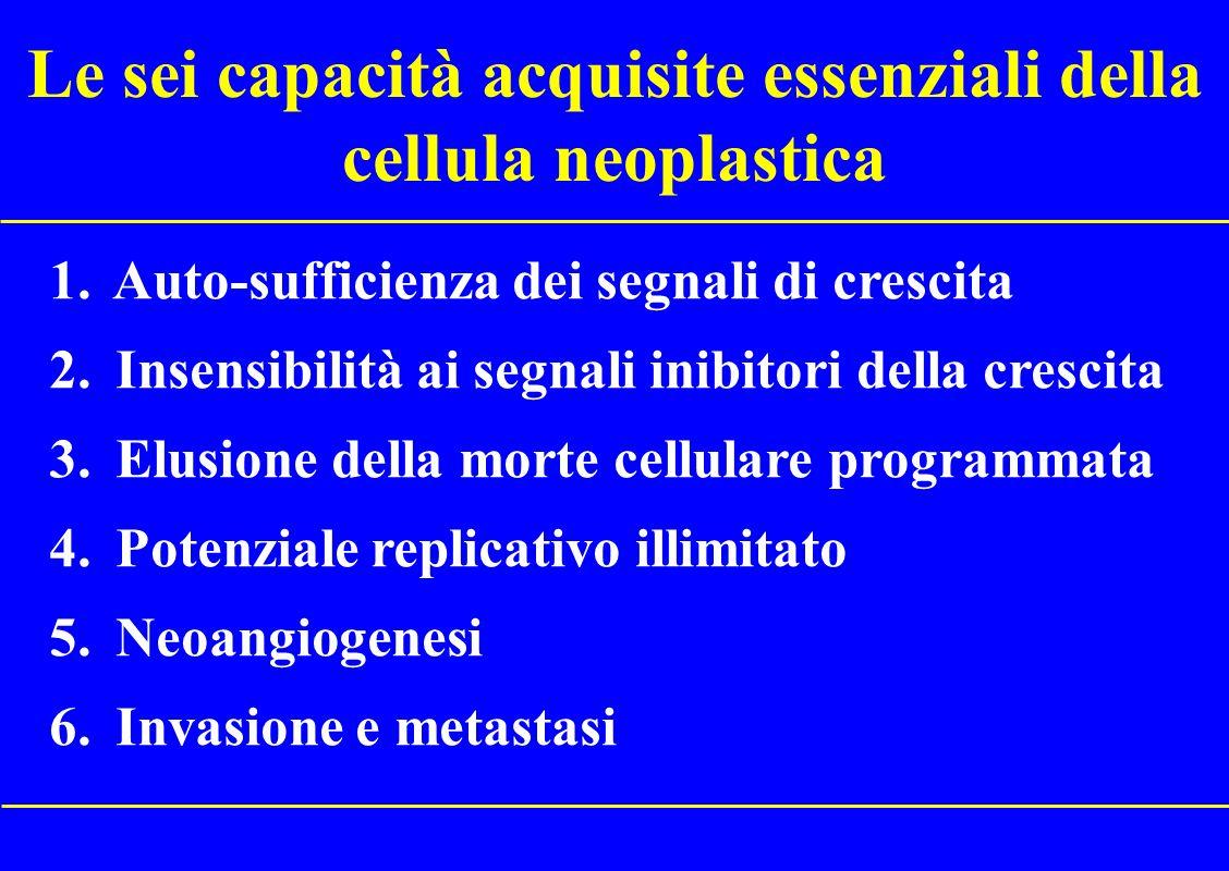 Le sei capacità acquisite essenziali della cellula neoplastica
