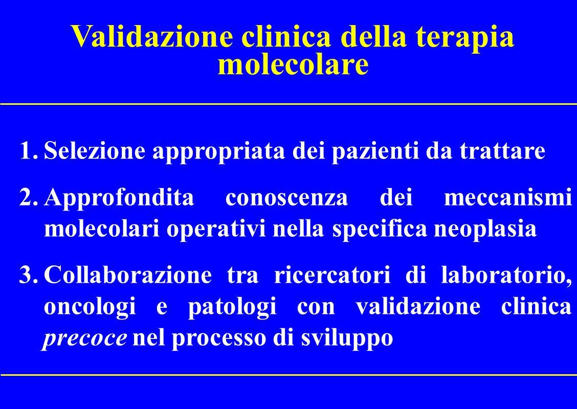 Validazione clinica della terapia molecolare