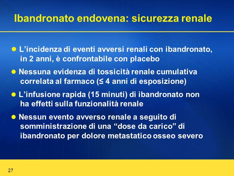 Ibandronato endovena: sicurezza renale