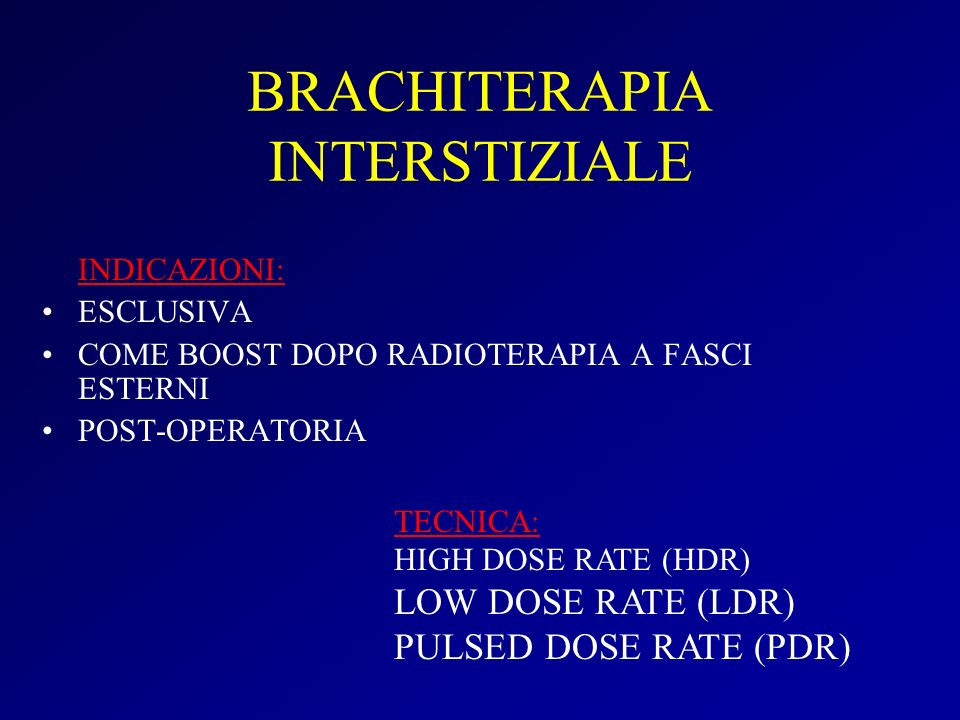 BRACHITERAPIA INTERSTIZIALE