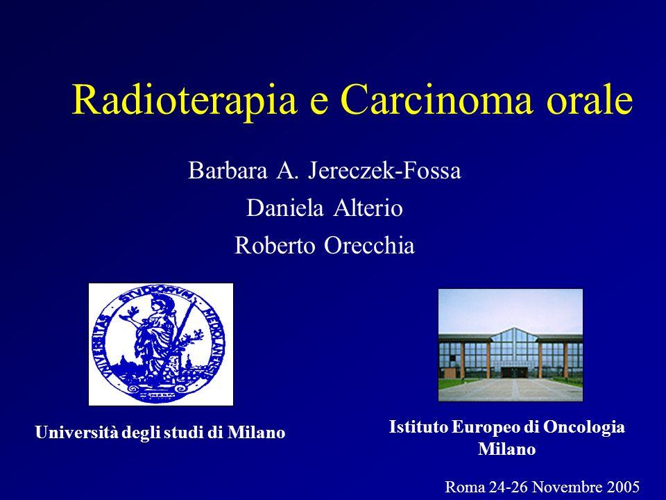 Radioterapia e Carcinoma orale