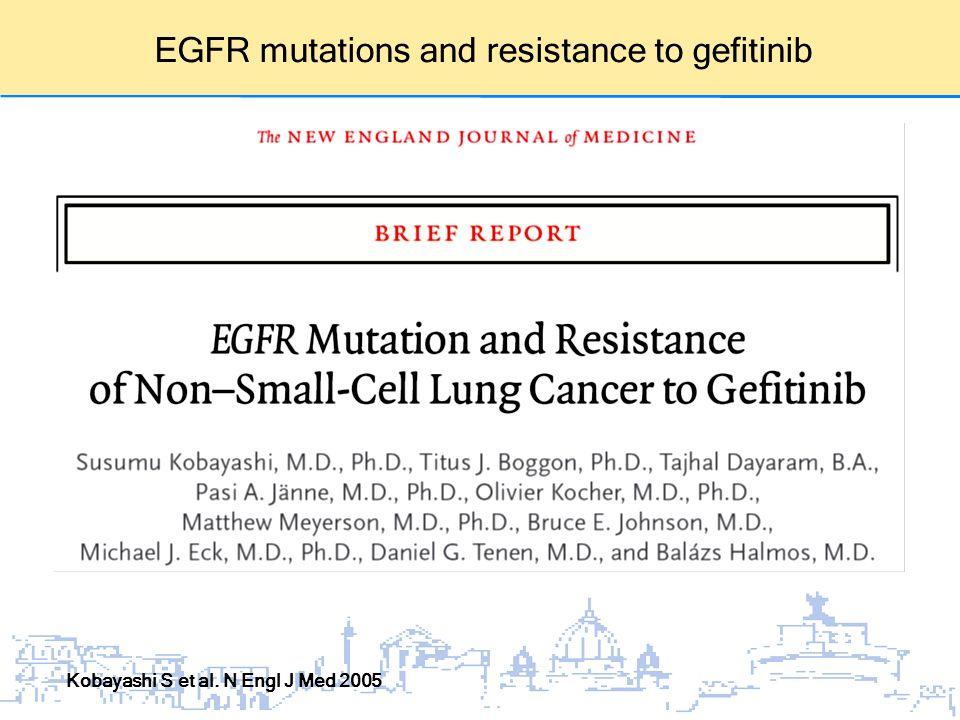 EGFR mutations and resistance to gefitinib