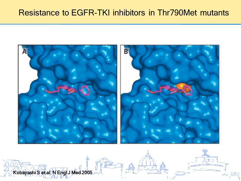 Resistance to EGFR-TKI inhibitors in Thr790Met mutants