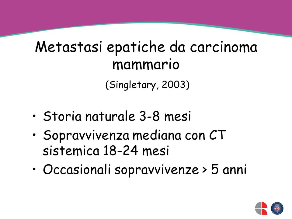 Metastasi epatiche da carcinoma mammario
