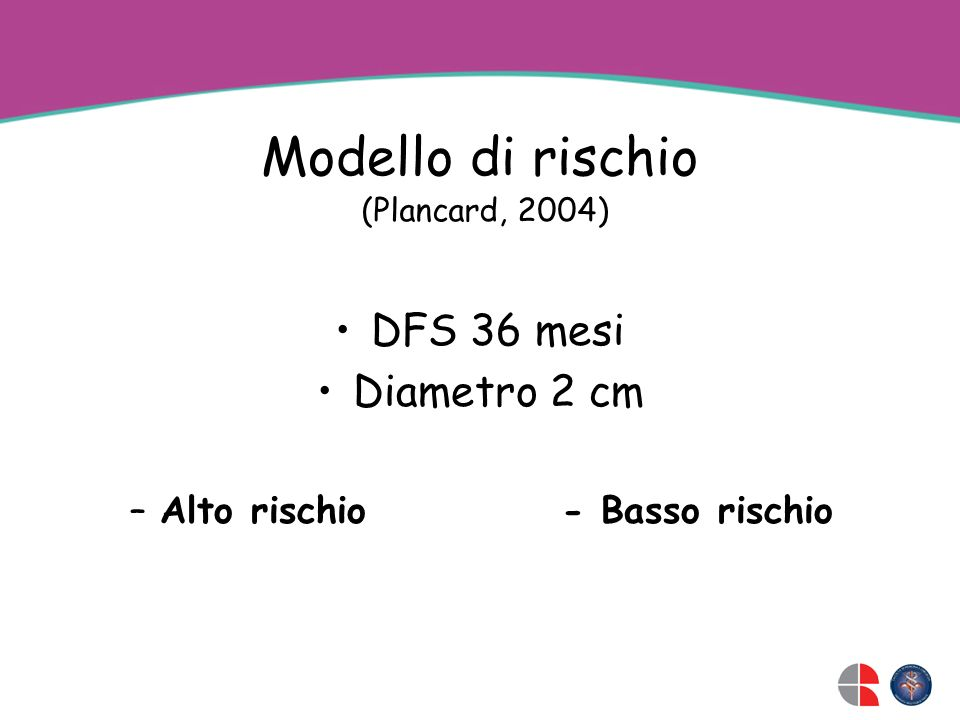 Modello di rischio DFS 36 mesi Diametro 2 cm