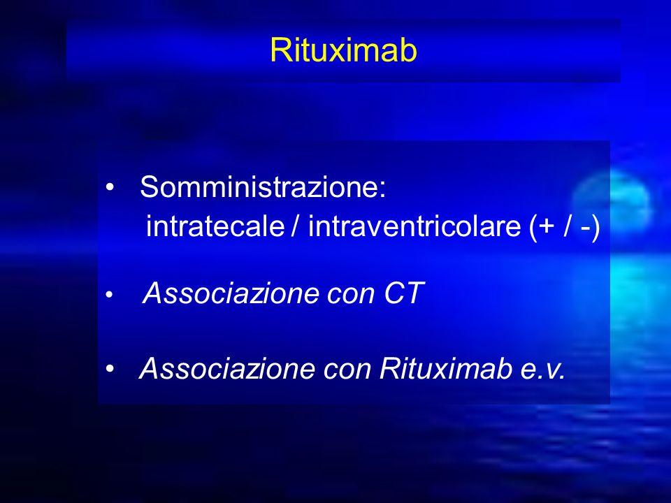 Rituximab Somministrazione: intratecale / intraventricolare (+ / -)
