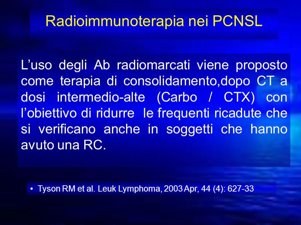 Radioimmunoterapia nei PCNSL