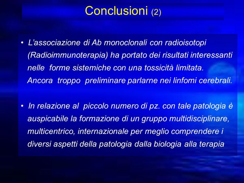 Conclusioni (2) L'associazione di Ab monoclonali con radioisotopi