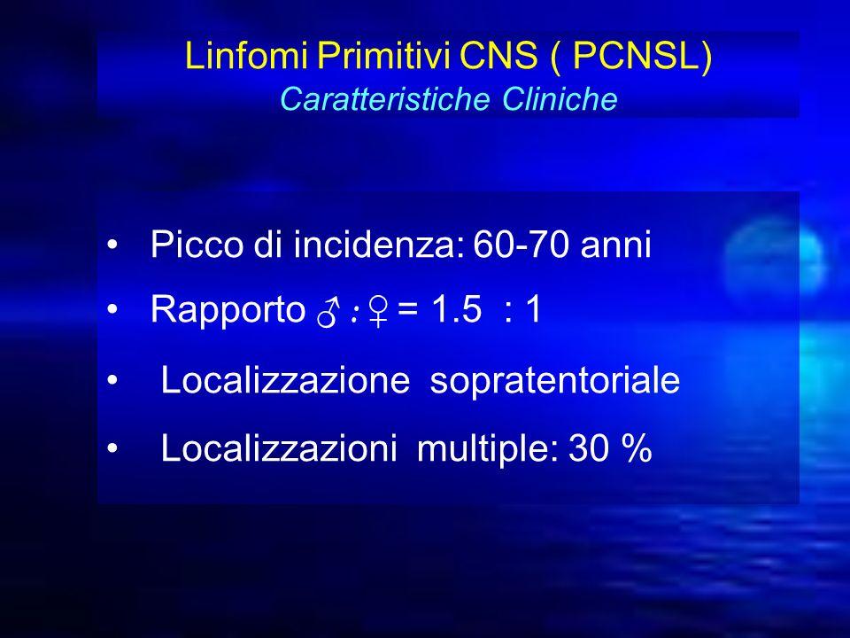 Linfomi Primitivi CNS ( PCNSL) Caratteristiche Cliniche