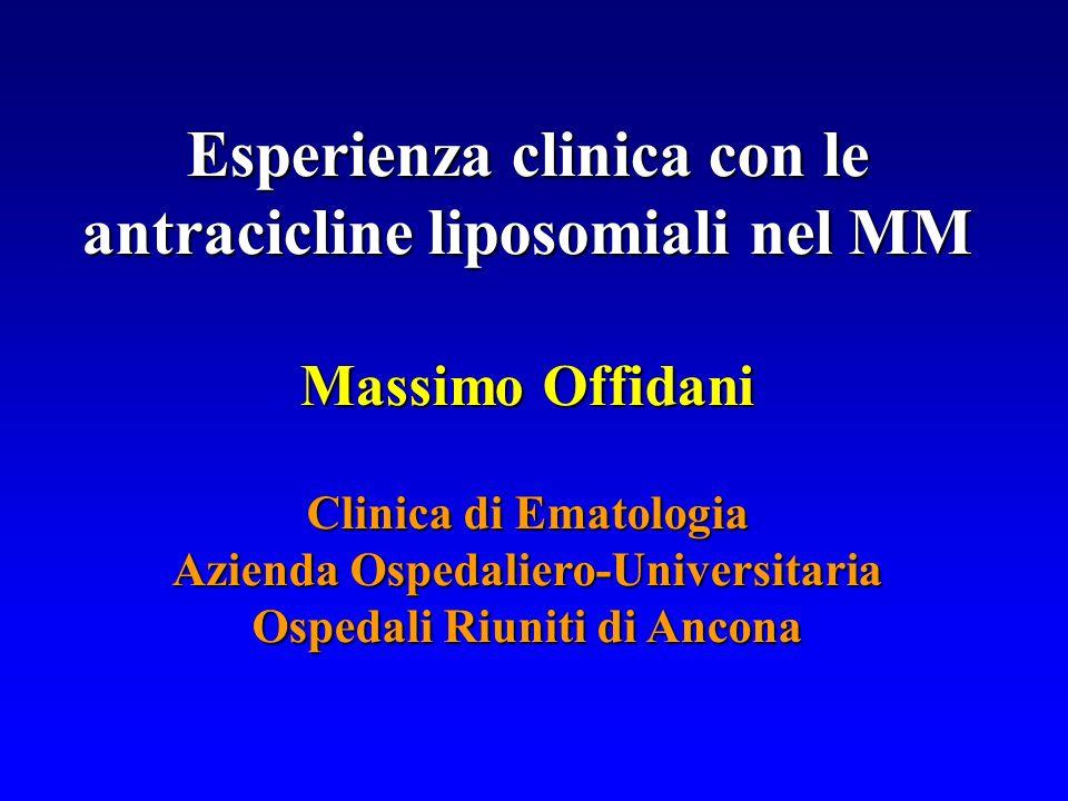 Esperienza clinica con le antracicline liposomiali nel MM