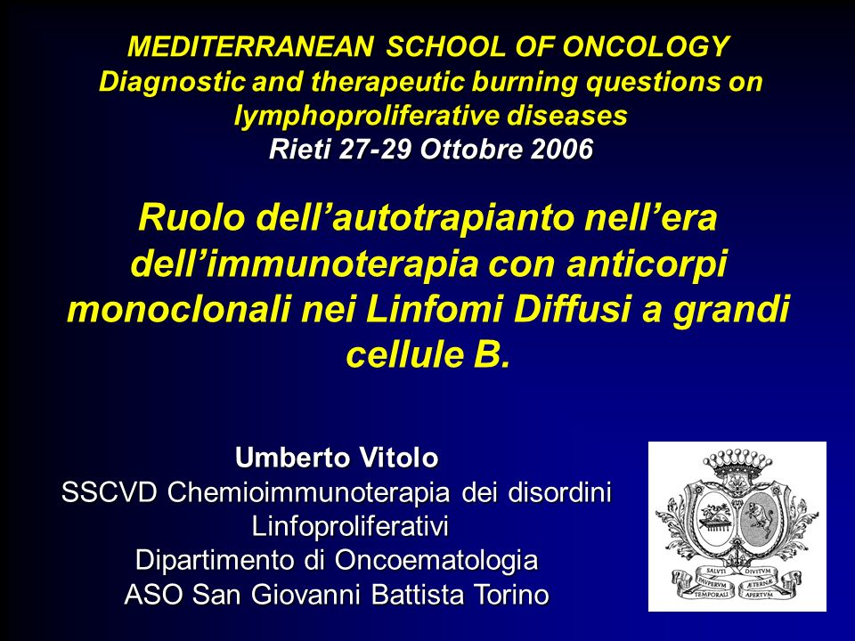 MEDITERRANEAN SCHOOL OF ONCOLOGY