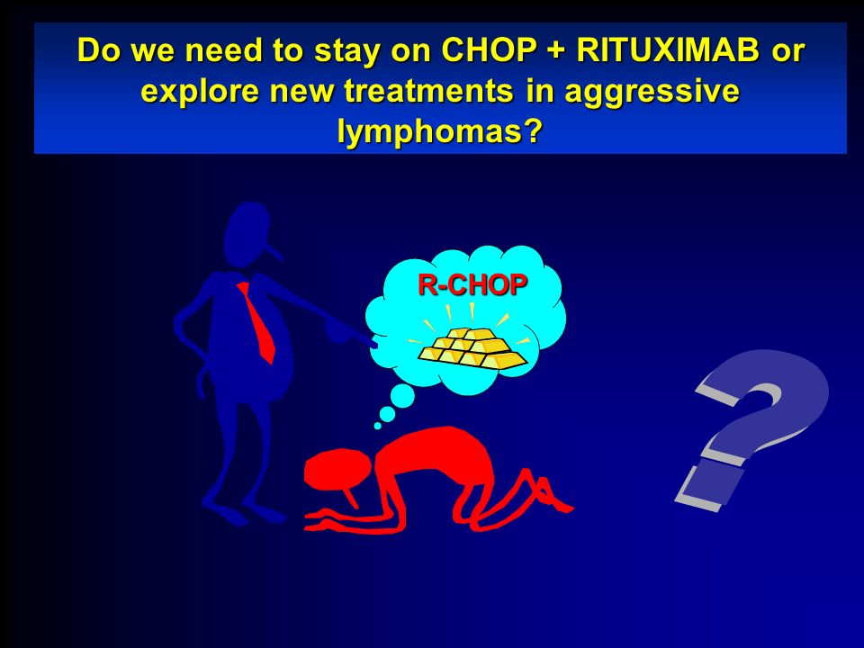 Do we need to stay on CHOP + RITUXIMAB or explore new treatments in aggressive lymphomas