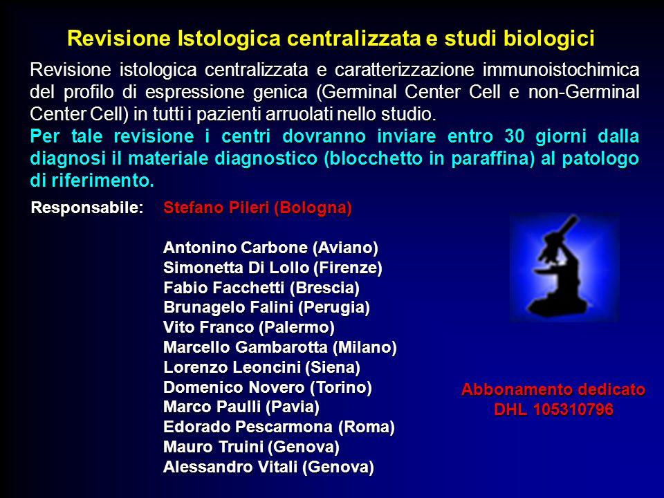 Revisione Istologica centralizzata e studi biologici