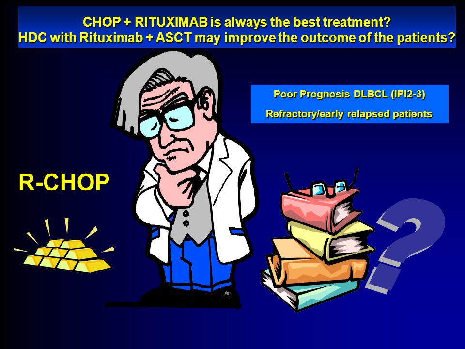 R-CHOP CHOP + RITUXIMAB is always the best treatment