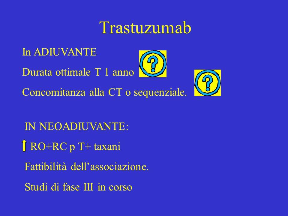 Trastuzumab In ADIUVANTE Durata ottimale T 1 anno
