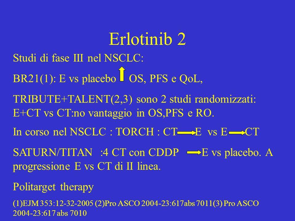 Erlotinib 2 Studi di fase III nel NSCLC: