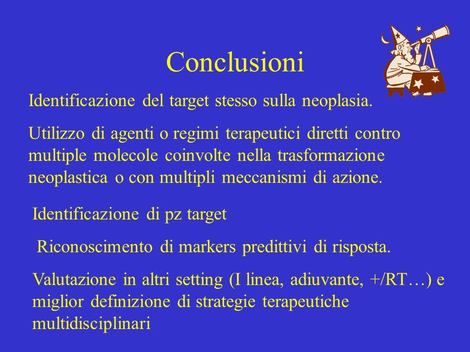 Conclusioni Identificazione del target stesso sulla neoplasia.